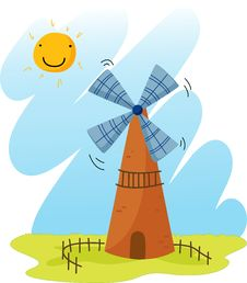 Free Windmill Stock Photography - 9269982