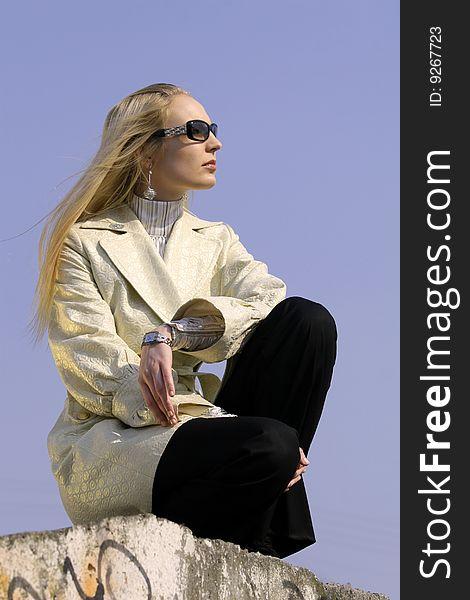 Fashion woman waiting