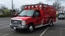 Free NEW 2015 Ford E350 Ambulance: Bellingham Fire EMS A4 Royalty Free Stock Photo - 92651645