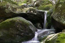 Free Gentle Waterfall On Caribou Mountain In Maine. Royalty Free Stock Images - 92651709