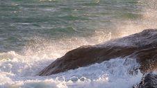 Free Golden Wave Crash Stock Images - 92651914
