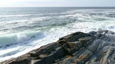 Free Pemaquid Point Wave Crash Stock Images - 92652654