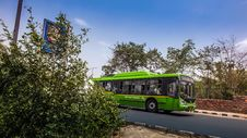 Free Delhi Transport Corporation Bus, India Stock Photography - 92652982