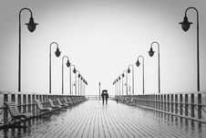 Free Pier In Rain Stock Photo - 92653560