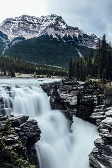 Free Athabasca Falls Stock Images - 92653994