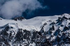 Free Snow On Rocky Mountain Side Stock Images - 92654104