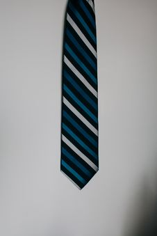 Free Blue Black And White Neck Tie Stock Image - 92654161