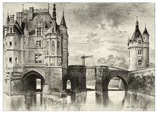 Free Château De Chenonceau, The Chapel Stock Photography - 92677512