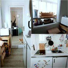 Free Appartement Tour: Entry/kitchen &x28;+ Corgi&x29; Royalty Free Stock Photos - 92699358