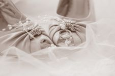 Free Wedding Shoes Royalty Free Stock Photo - 9270125