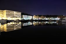 Free Harbour Reflection Royalty Free Stock Photo - 9270655