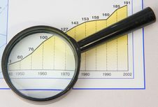 Magnifier On The Schedule Royalty Free Stock Photo