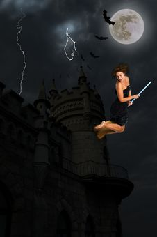 Free Flying The Broom Stock Photo - 9271020