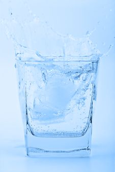 Free Blue Splash Stock Photo - 9271830