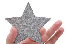 Silvery Star Stock Images