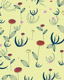 Free Floral Repeated Pattern Design Royalty Free Stock Photo - 9272415
