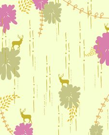 Free Little Reindeer In Wildlife Illustration Royalty Free Stock Photos - 9272448