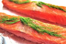 Free Raw Salmon Flesh Royalty Free Stock Photo - 9273605