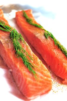 Free Raw Salmon Flesh Stock Photography - 9273632