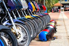 Row Of Bikes Stock Photography