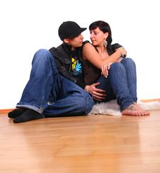 Free Lovers In New Home Royalty Free Stock Photography - 9274227