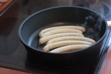 Fried Sausage Still Tartare Royalty Free Stock Images