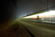 Free Night Train Stock Photo - 9275350