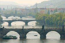 Free Prague S Bridges Royalty Free Stock Images - 9275389