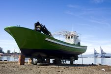 Free Boat In The Yard Royalty Free Stock Image - 9275626