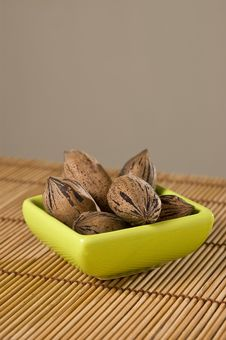 Free Pecan Nuts (Carya Illinoinensis). Stock Images - 9275744