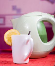 Cup And Kettle Stock Photo