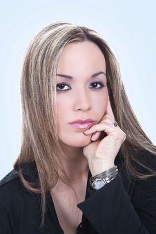 Free Macro Image Of A Beautiful Girl Face Stock Photo - 9276460