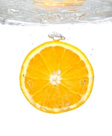 Free Orange Splash Royalty Free Stock Image - 9276676
