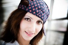 Free Girl With Baseball Cap Stock Photography - 9276732
