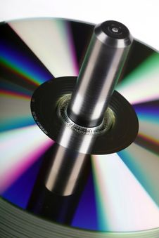 CD/DVD Spool Royalty Free Stock Photos