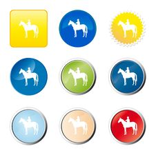 Free Horse Web Button Stock Images - 9277024