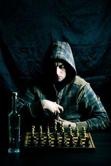 Man Playing Chess Royalty Free Stock Photo