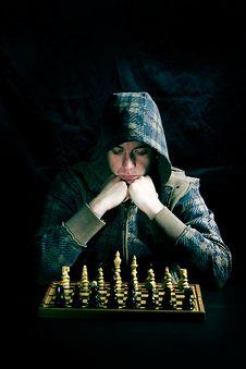 Free Man Playing Chess Stock Image - 9278491