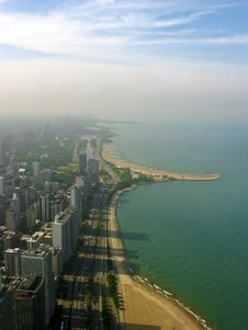 Free Chicago Seen From The Sky Royalty Free Stock Photo - 9279275