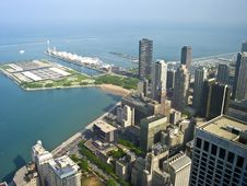 Chicago Seen From The Sky Royalty Free Stock Image