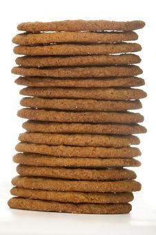 Free Stacked Wafer Cookies Royalty Free Stock Images - 9279409