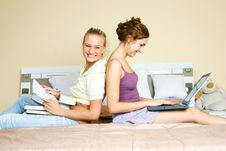 Free Two Students At Home Stock Photos - 9279423