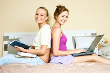 Free Two Students At Home Stock Photos - 9279433