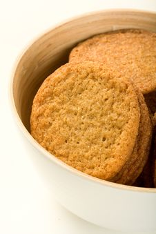 Ginger Cookies In Bowl Stock Photo