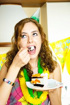 Free Girl Celebrating Birthday Royalty Free Stock Photo - 9279495