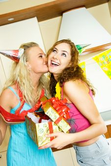 Free Happy Girls Celebrating Birthday Stock Photos - 9279503
