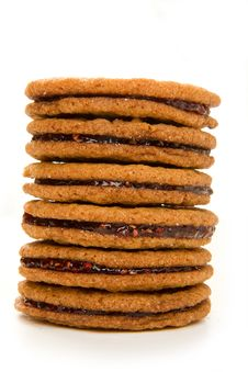 Free Raspberry Ginger Snap Stack Royalty Free Stock Photos - 9279508