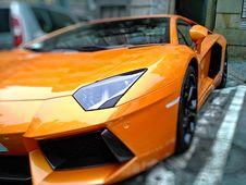 Free Orange Lamborghini Gallardo On Park Royalty Free Stock Image - 92710596