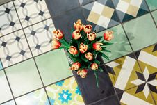 Free Tulips On Ceramic Tiles Royalty Free Stock Photography - 92710597