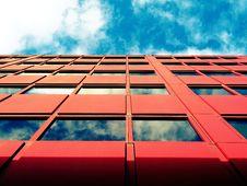 Free Red Facade Of Office Block  Stock Photos - 92710783